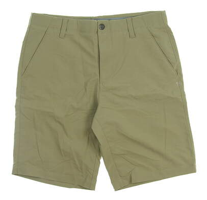 New Mens Under Armour Golf Shorts Size 36 Khaki MSRP $70