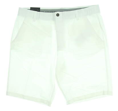 New Mens Under Armour Golf Shorts Size 38 White MSRP $70