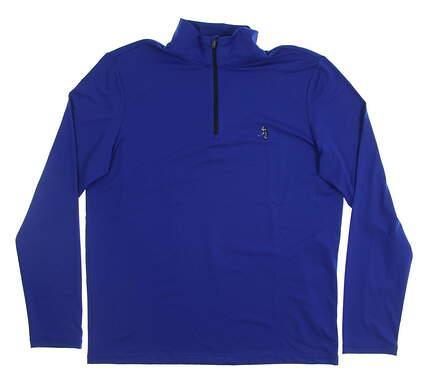New W/ Logo Mens Ralph Lauren Golf Long Sleeve Medium M Blue MSRP $99