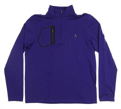 New W/ Logo Mens Ralph Lauren Golf Long Sleeve Medium M Purple MSRP $159