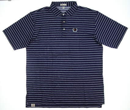 New W/ Logo Mens Peter Millar Golf Polo X-Large XL Navy Blue MSRP $95 MS17K51S