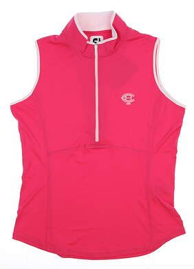 New W/ Logo Womens Footjoy Golf Sleeveless Polo Medium M Pink MSRP $65 22927