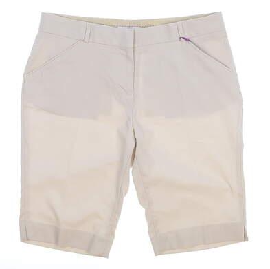 New Womens Peter Millar Golf Shorts Size 6 Tan MSRP $60 LS17EB43