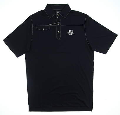 New W/ Logo Mens Footjoy Golf Polo Small S Navy Blue MSRP $79 21542