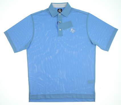 New W/ Logo Mens Footjoy Golf Polo Medium M Blue MSRP $76 21290