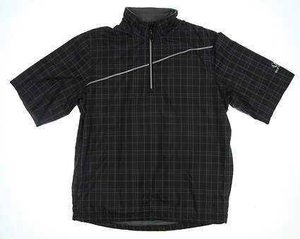 New Mens SUNICE Golf 1/2 Zip Pullover Small S Black MSRP $90 3613P