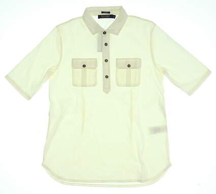 New Womens Ralph Lauren Golf Polo Medium M Cream MSRP $98