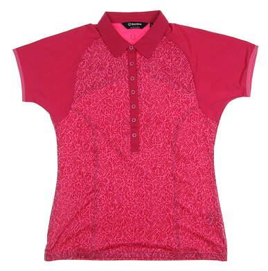 New Womens SUNICE Golf Polo Medium M Red MSRP $75 840506