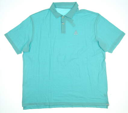 New W/ Logo Mens Peter Millar Golf Polo XX-Large XXL Blue MSRP $78 MS17K68