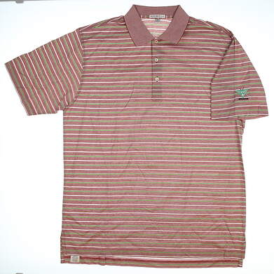 New Mens Peter Millar Golf Polo X-Large XL Red MSRP $99 MF14K10
