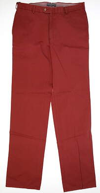 New Mens Peter Millar Golf Pants Size 34 Red MSRP $125 MF14B84