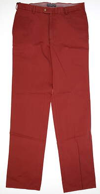 New Mens Peter Millar Golf Pants Size 38 Red MSRP $125 MF14B84