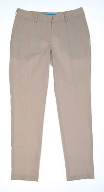 New Womens Lizzie Driver Golf Pants Size 4 Tan MSRP $110