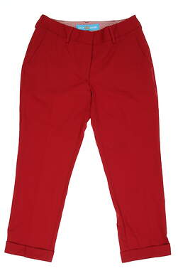 New Womens Lizzie Driver Golf Pants Size 2 Red MSRP $145