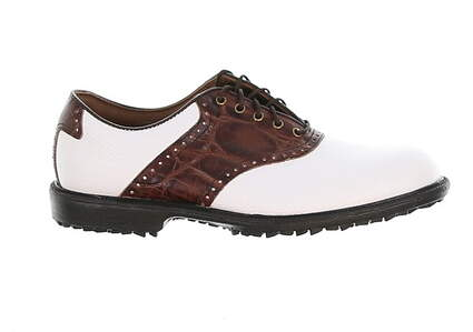 New Mens Golf Shoe Footjoy Professional 8.5 White/Brown MSRP $180
