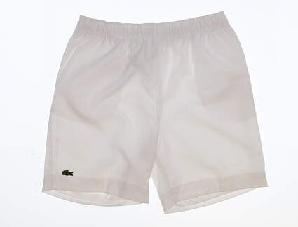New Youth Lacoste Golf Shorts Size Small S White MSRP $55 GJ863651