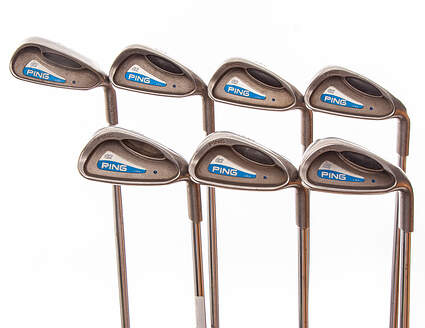 Ping G2 Iron Set 4-PW Stock Steel Shaft Steel Stiff Right Handed Blue Dot 37.75 in