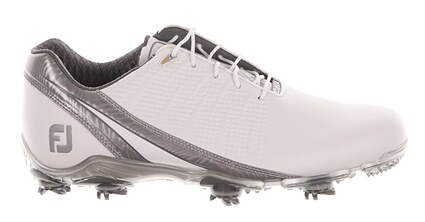 New Mens Golf Shoe Footjoy DNA 2.0 Wide 10 White/Grey MSRP $200 53383