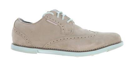 New Womens Golf Shoe True Linkswear TRUE Dame Wingtip Suede Leather 7 Gray MSRP $120