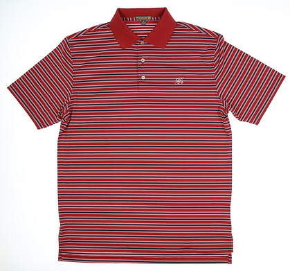 New W/ Logo Mens Peter Millar Golf Polo X-Large XL Red MSRP $85 MS17EK18