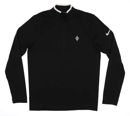 New W/ Logo Mens Nike Golf Long Sleeve Small S Black MSRP $89 833282