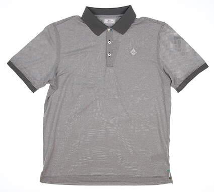 New W/ Logo Mens Adidas Golf Polo Medium M Gray MSRP $80 BC1981