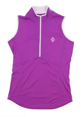New W/ Logo Womens Footjoy Golf Sleeveless Polo X-Small XS Purple MSRP $74 27397
