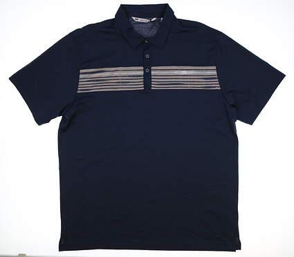 New Mens Travis Mathew Golf Polo XX-Large XXL Navy Blue MSRP $95 1ML006