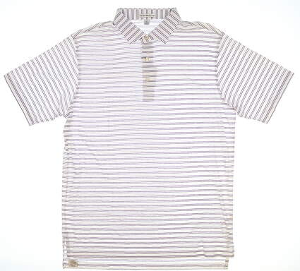 New Mens Peter Millar Golf Polo Medium M White MSRP $95 MF16K15S