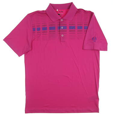 New W/ Logo Mens Adidas Golf Polo XX-Large XXL Purple MSRP $65 Z83785