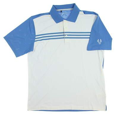 New W/ Logo Mens Adidas Golf Polo XX-Large XXL White MSRP $60 TM1401S3