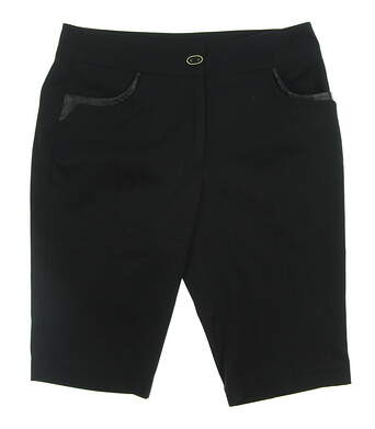 New Womens EP Pro Golf Shorts Size 2 Black MSRP $65