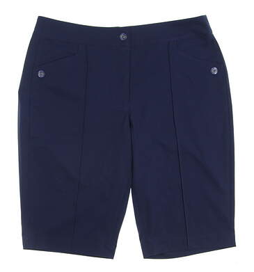 New Womens EP Pro Golf Shorts Size 12 Navy Blue MSRP $78