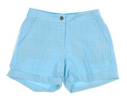 New Womens Puma 2018 Soft Plaid Golf Shorts Size Small S Blue MSRP $65 574814