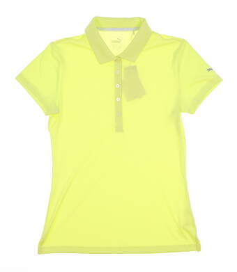 New Womens Puma 2018 Pounce Polo Small S Sunny Lime MSRP $50 574652