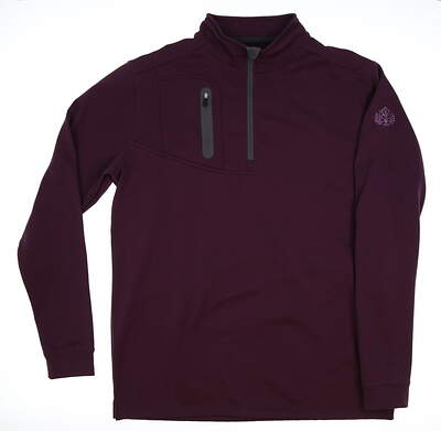 New W/ Logo Mens Straight Down 1/4 Zip Pullover X-Large XL Purple MSRP $90