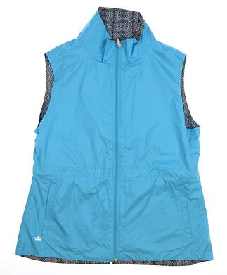 New Womens Peter Millar Reversible Golf Vest Large L Multi MSRP $130 LS17EZ01D