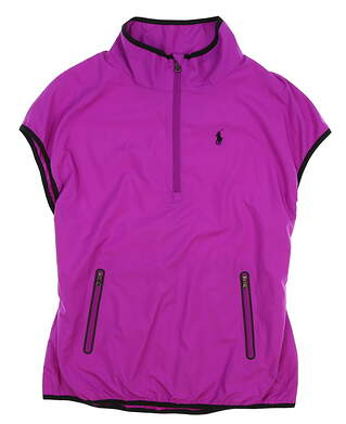 New Womens Ralph Lauren Short Sleeve Wind Jacket X-Small XS Purple MSRP $198