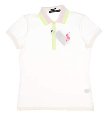 New Womens Ralph Lauren Golf Polo Large L White MSRP $98
