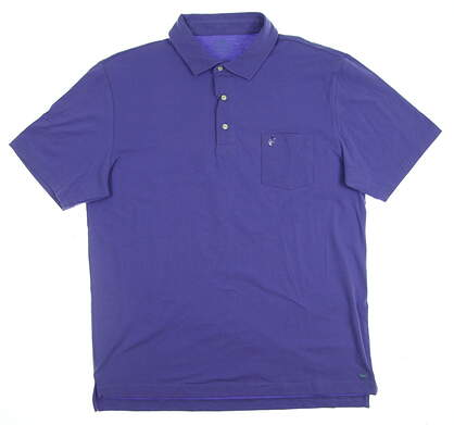 New W/ Logo Mens Peter Millar Mountainside Collection Golf Polo Medium M Purple MSRP $65