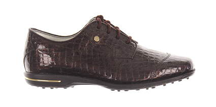 New Womens Golf Shoe Footjoy Tailored Collection Wide 8 Brown MSRP $150