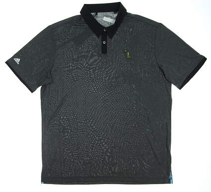 New W/ Logo Mens Adidas Golfl Polo X-Large XL Gray MSRP $70
