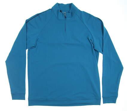 New Mens Adidas Golf Long Sleeve Medium M Blue MSRP $70 Z15874