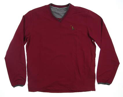 New W/ Logo Mens Ashworth Golf Long Sleeve Medium M Red MSRP $75 Z67991