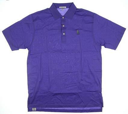 New W/ Logo Mens Peter Millar Golf Polo Large L Purple MSRP $89 MS15K01