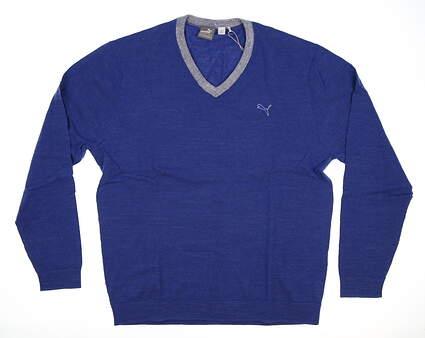 New Mens Puma Golf Sweater X-Large XL Blue MSRP $80 570492 04
