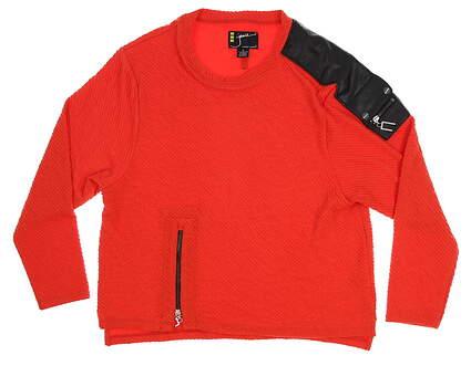 New Womens Jamie Sadock Golf Long Sleeve Medium M Red MSRP $90 L 72608