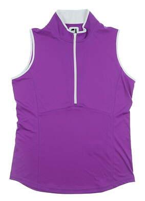 New Womens Footjoy Sleeveless Golf Polo Medium M Purple MSRP $65
