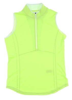 New Womens Footjoy Sleeveless Golf Polo Medium M Green MSRP $65