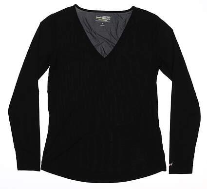 New Womens Jamie Sadock Long Sleeve Large L Black MSRP $80 61127